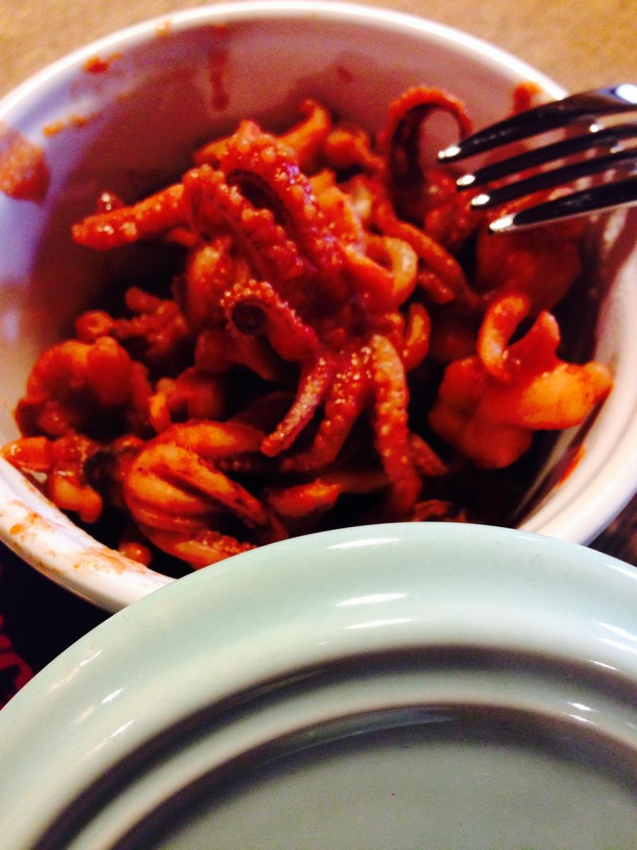 Ciuffetti di calamari alla diavola